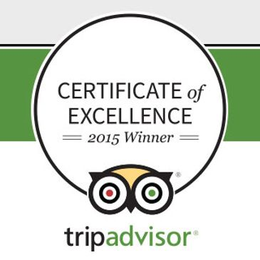 2015 Trip Advisor Badge of Excellence