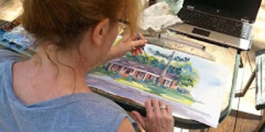 watercolor artist Marybeth Cunningham