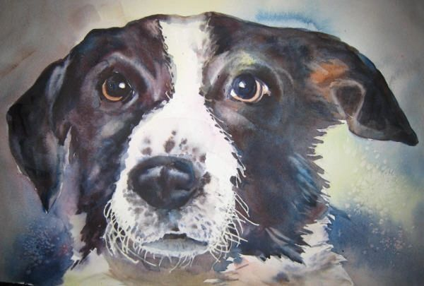 ce405ae2ec7c 3: Watercolor portraits of a pets with their owner or a child are popular  too. This retro image was done from an old family photo of the buyer's  grandfather ...
