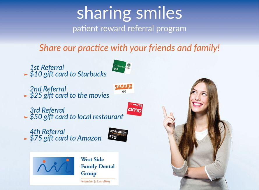 Patient Reward Referral Program West Side Family Dental Upper West Side Manhattan New York