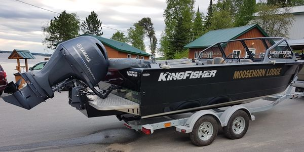 Lac Seul Guide's rig at Moosehorn Lodge in Sioux Lookout, Ontario Canada  Fishing Lac seul