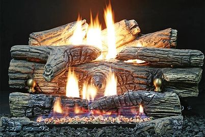 Vent Free Gas Logs in Fireplace