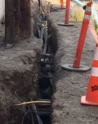 AVS trenched for underground utilities in Boise, Idaho for Das-co