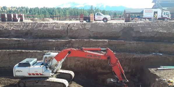 Excavating deep Footers for Foundation