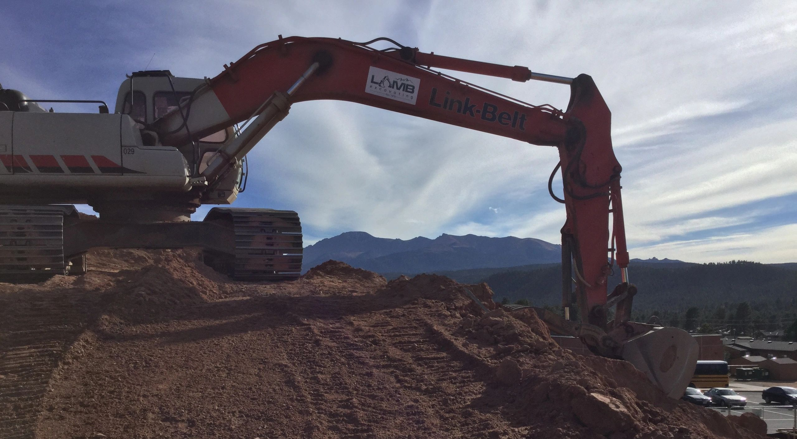 Excavation with a View of Pikes Peak - we LOVE what we do!