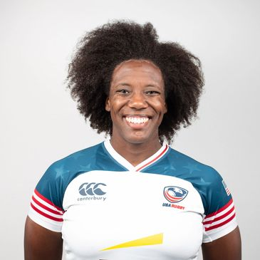 Co-Founder Alycia Washington, USA Rugby Eagle Number 237.