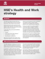HSE, health and work strategy