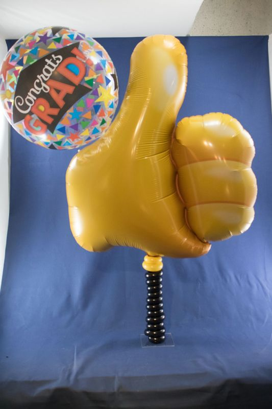 Thumbs up 1 foot PlexiPole with Qualatex Balloons