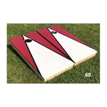Garnet Red and White Cornhole Boards