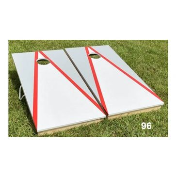 Grey and Red Cornhole Boards