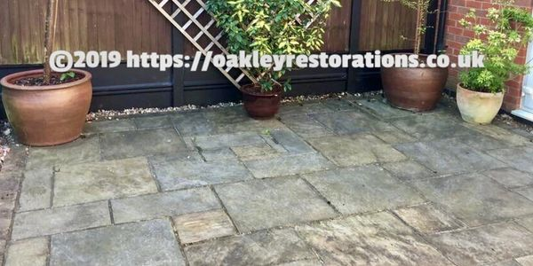 Patio Cleaning in Bedfordshire by Oakley Restorations 07590838375  Pressure washing patios
