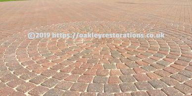 Block paved driveway cleaned by Oakley Restorations Bedford 07590838375 - Pressure Washing Service