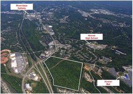 125 acres for sale adjacent to Stadium Trace Village development in Hoover, Alabama.