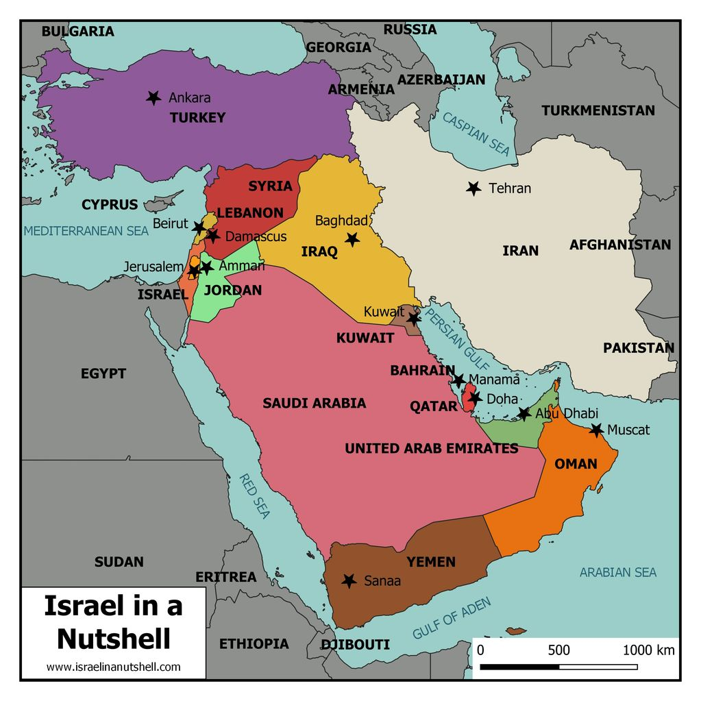 Royalty-free map of the Middle east