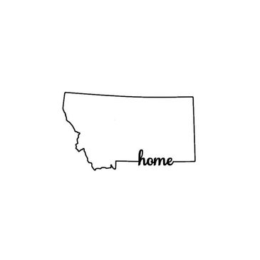 Montana State Outline