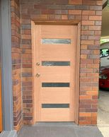 4 lite timber door with translucent glass