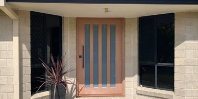 Newhaven 2040x1200mm translucent 4 lite external door.