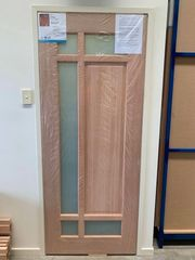 Startpoint 2040x820mm external front door translucent glass. with entry handle