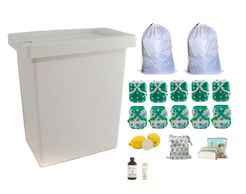 Diaper Pail, pail liners, diaper covers, wet bag, cloth wipes, wipe solution