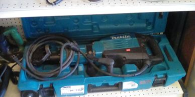 Makita Model HM1307CB Jack Hammer in rare Wheeled Storage Case.        Only 750.00