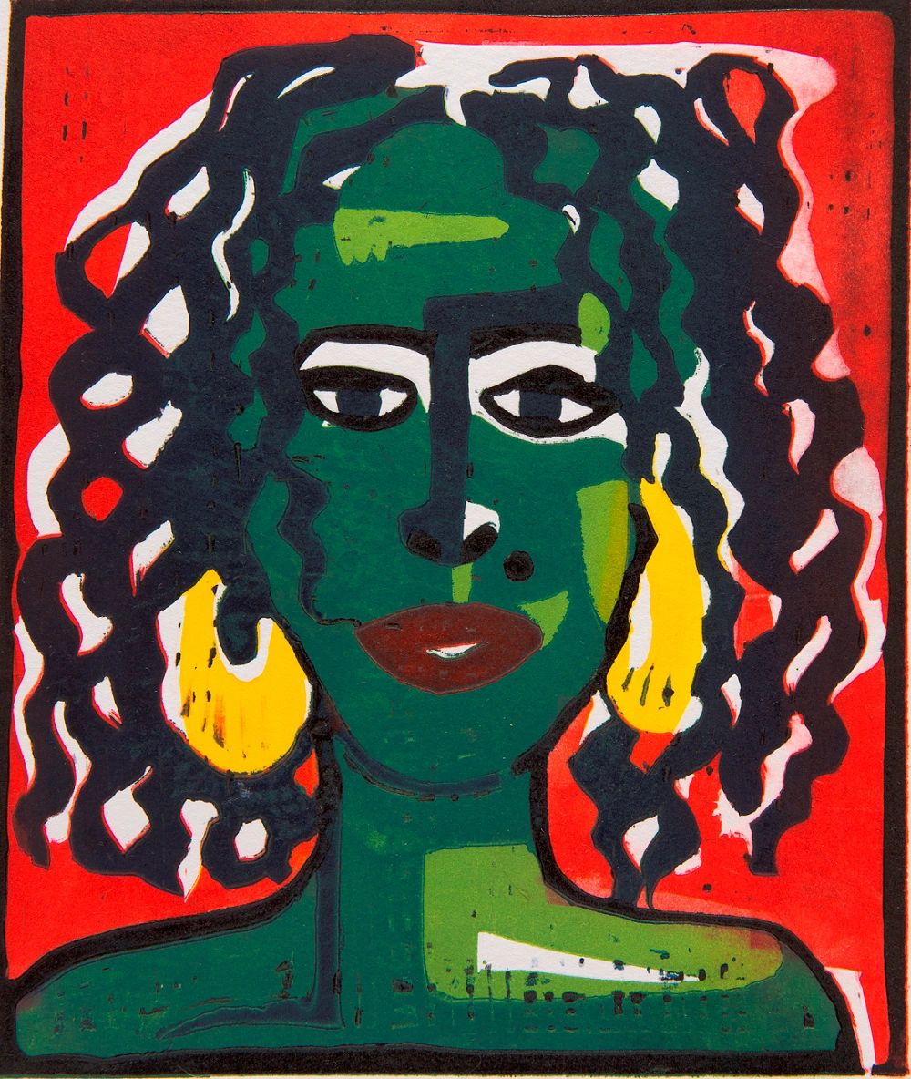 Neneh Lino Paper painting