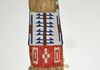(#655) c.1890, Lakota, Beaded and quilled. Slats are like Cheyenne River Sioux. One side faded