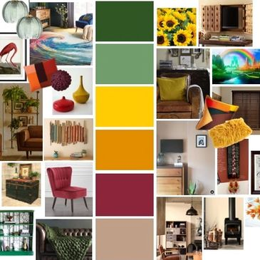 nature theme interior design, pop of colour design, wetherby interior designer, room planning layout