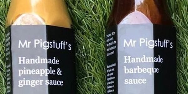 Two of Mr Pigstuff's sauces, no  chilli  Mention substitutes in the PayPal purchase notes.