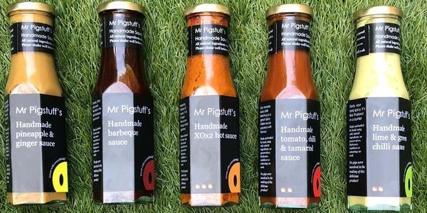 Mr Pigstuff's Handmade sauce FIVE bottle collection  Mention any substitutes in the PayPal notes.