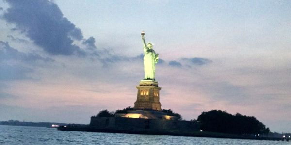 The guiding light in New York Harbor.