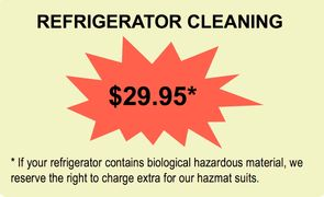 Residential Cleaning Special Offer Refrigerator Cleaning