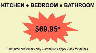Kitchen - Bedroom - Bathroom cleaning special