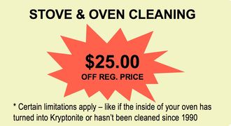 Residential Cleaning Special Offer for Stove & Oven