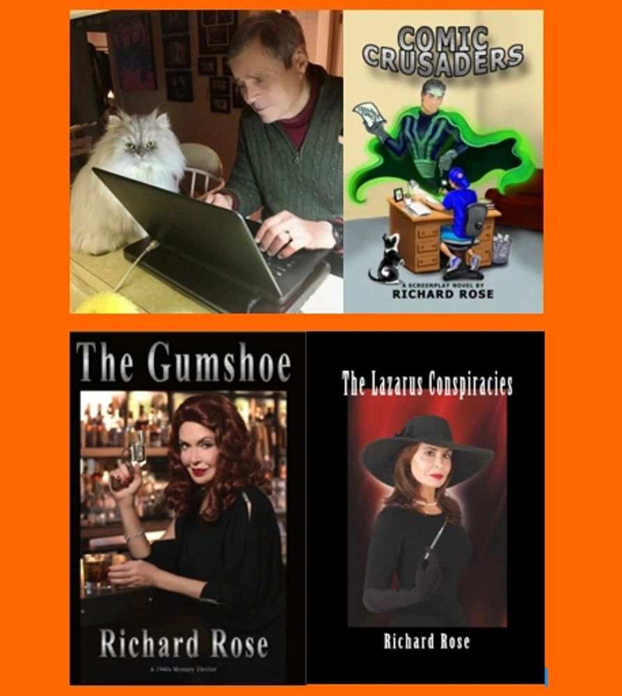richard rose, author, gumshoe, lazarus, conspiracies, books, comic, crusaders, crime, mystery, drama