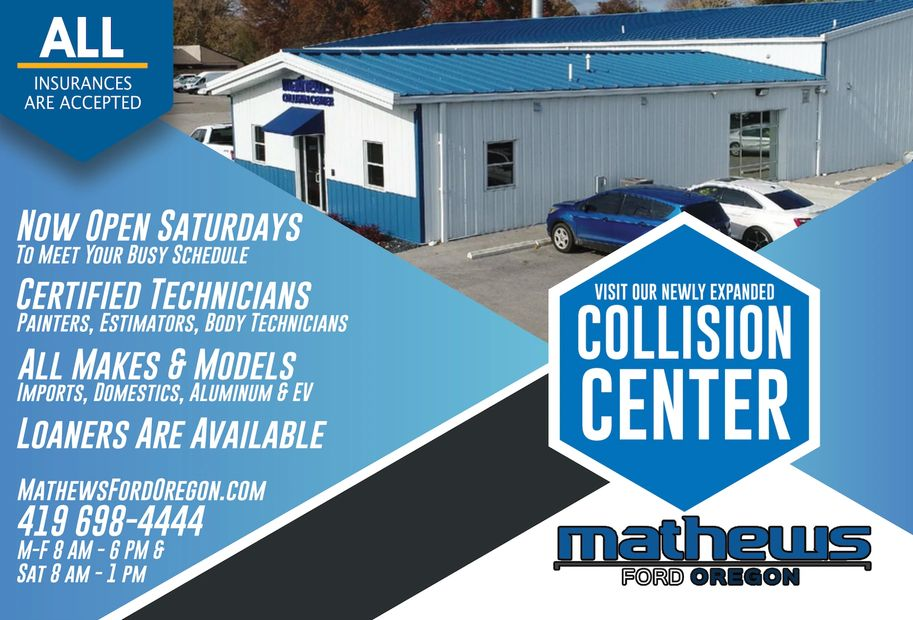 Expanded Hours and Staff at Toledo Ford Service Body Shop and Collision Center in Toledo Ohio