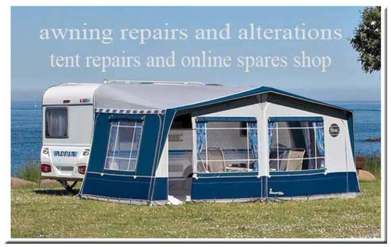 caravan awning alterations - repairs - online shop for zips and spares.
