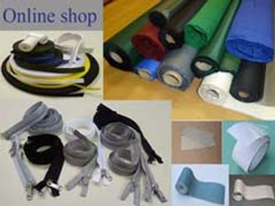 zips - zippers - heavy duty -  fabrics - tapes -repair tapes and patches - keder - awning - tent
