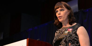 Washington Blade coverage of Ann Murdoch speaking at Equality Virginia's Commonwealth Dinner in 2018