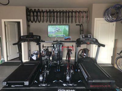 My Training Pain Cave in my home garage