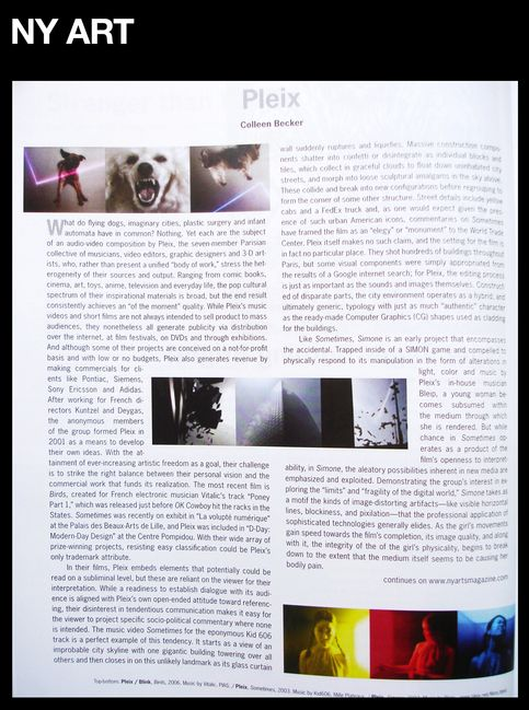 NY Art Magazine Article