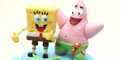 Sponge bob and friends cake