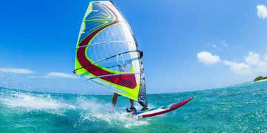Windsurfing in Maui, Hawaii