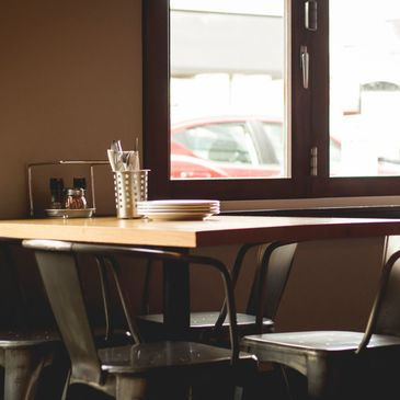 Our restaurant has seating for business meetings, family outings, and the occasional night out.