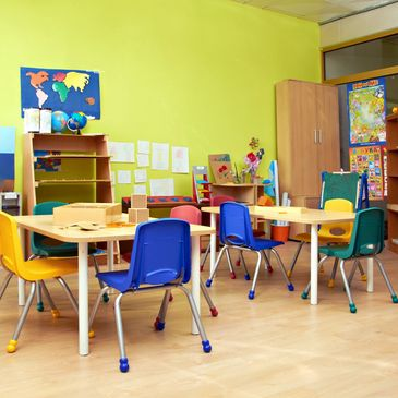 state of the art and age appropriate child care classrooms
