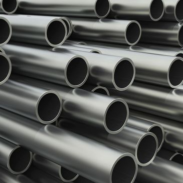 Image of a pile of stainless tubes similar to the tubes with the Angle-Rite clamp.