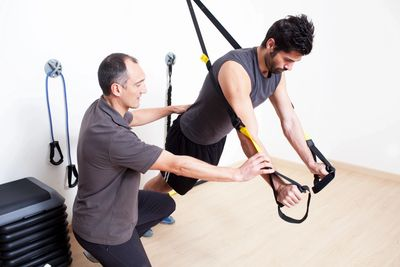 suspension training incorprating upper body weight-bearing