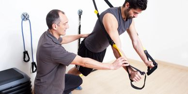 a 45-min class uses free weights, body weight, and gym equipment to build muscle, shed unwanted body
