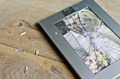 shattered picture frame