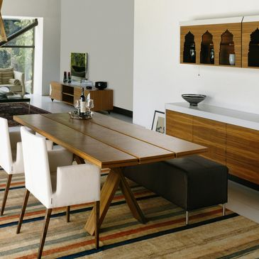 Solid wood dining room furniture; environmentally friendly furniture.