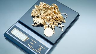 Some jewelry used in a cash for gold transaction in Quakertown, PA